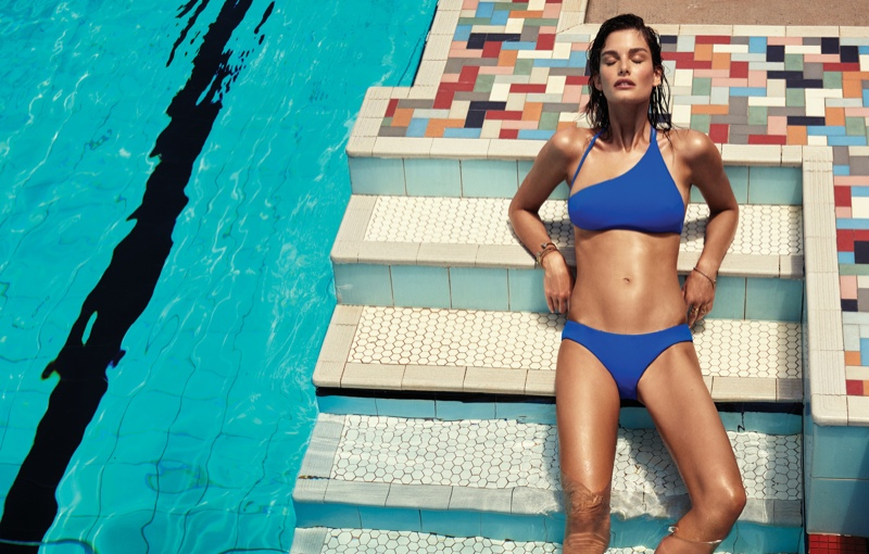 Zimmermann has unveiled its swimsuit campaign for summer 2015 featuring Ophelie Guillermand