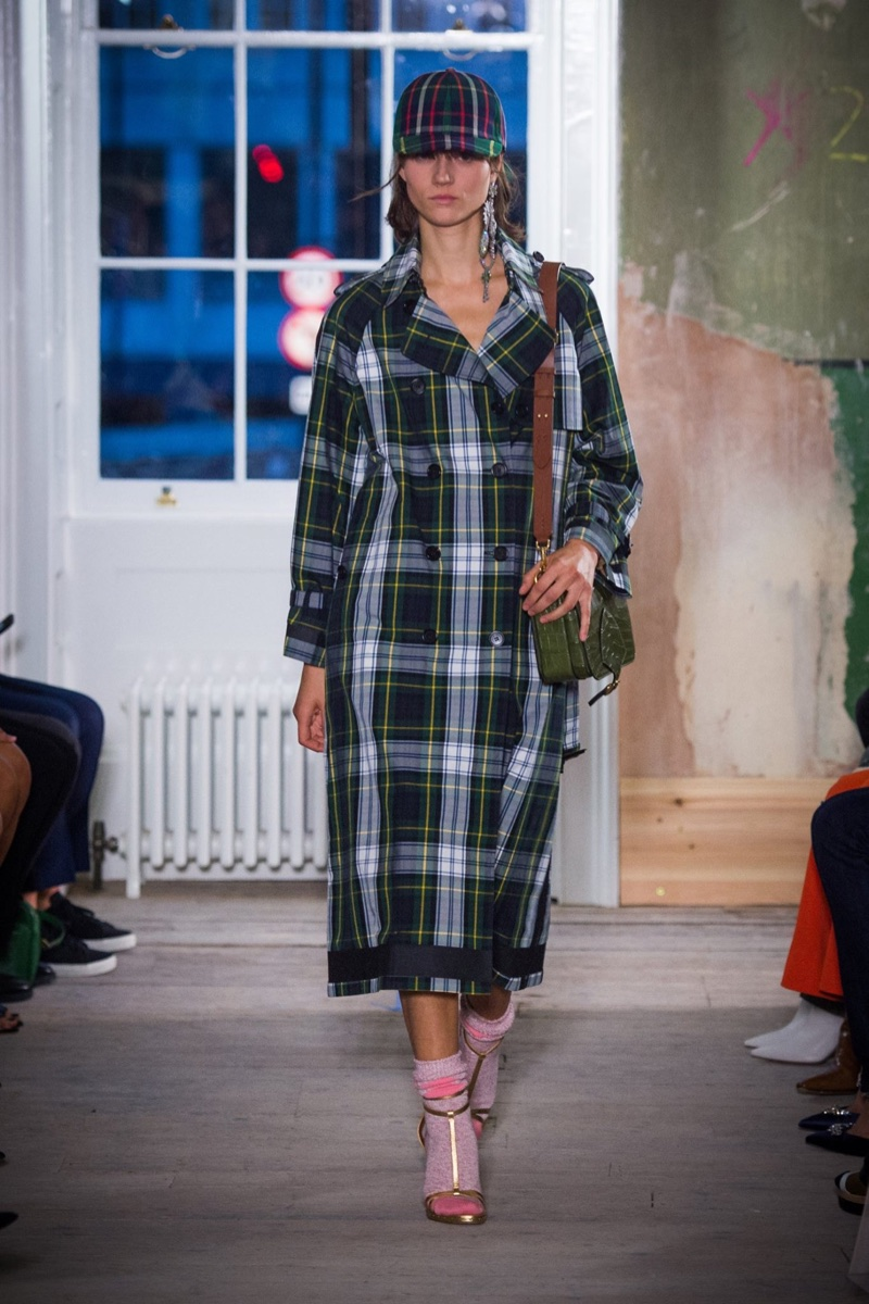 A plaid trench coat from Burberry's fall-winter 2017 collection
