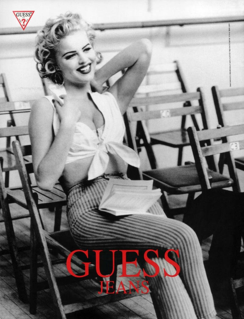 Eva Herzigova was another supermodel of the 90's that appeared in Guess campaigns. The Czech beauty also starred in the iconic 'Hello Boys' Wonderbra ad.