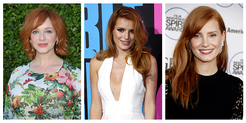 Red hair has helped launched these actresses careers. Photo: PR Photos