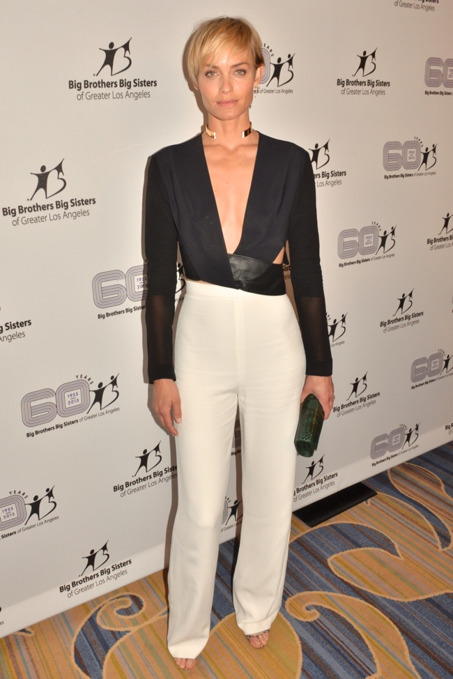Amber Valletta rocked a black top from Dion Lee, white pants and Giuseppe Zanotti shoes at the Big Brothers Big Sisters of Greater Los Angeles 60th Anniversary Accessories for Success Spring Luncheon & Fashion Show. Photo: Billy Bennight / PRPhotos.com