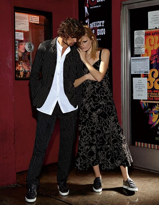 Hanne & Marlon Teixeira both model Rag & Bone in this image