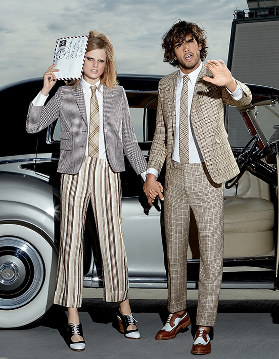 Two two also suit up in Brooks Brothers