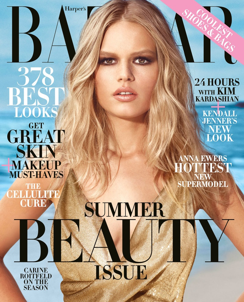 Anna Ewers stars on the May 2015 cover of Harper's Bazaar