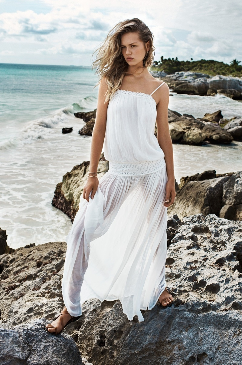 Washed Ashore: Anna Ewers Models Beach Style from Mango