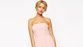 ASOS WEDDING Bandeau Midi Dress available for $99.00