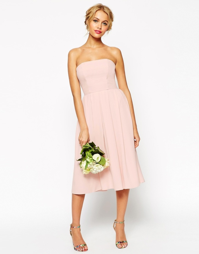 ASOS WEDDING Bandeau Midi Dress available for $99.00