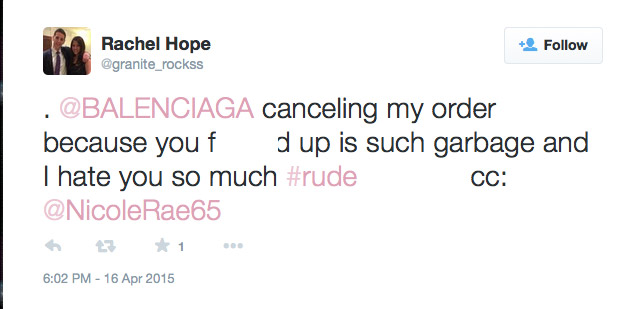 One Twitter user is mad after learning their order is canceled.