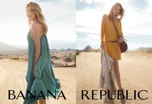 Lily Donaldson Poses in Banana Republic Spring '15 Campaign