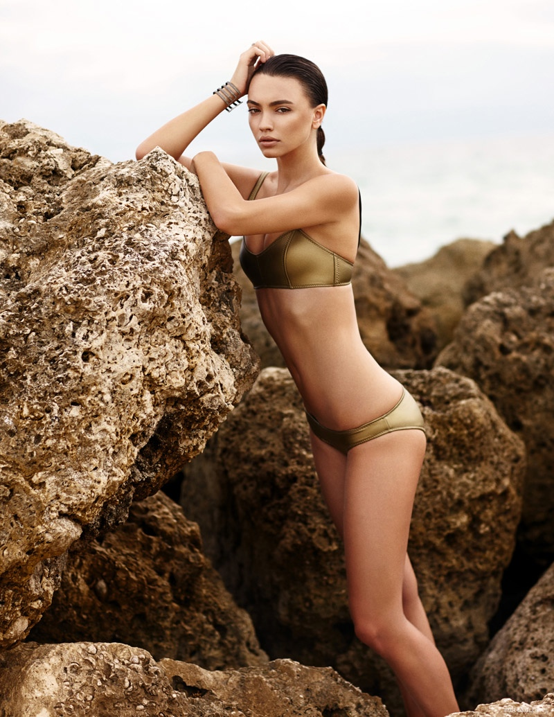 Swimsuit Lisa Marie Fernandez, Cuff Rona Pfieffer available at shopcurve.com