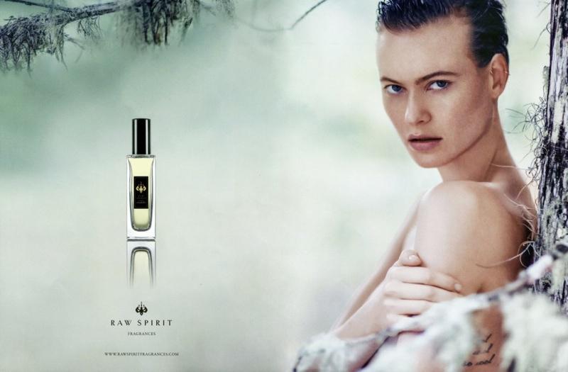 Behati Prinsloo fronts Raw Spirit Fragrances campaign.