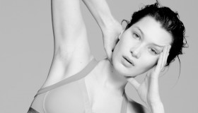 Bella Hadid poses unretouched and makeup free for CR Fashion Book. Photo: Paul Jung