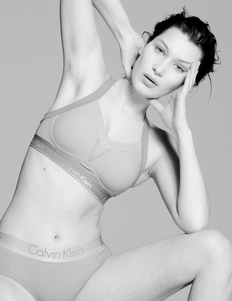 Bella Hadid posed unretouched and makeup free for CR Fashion Book. Photo: Paul Jung