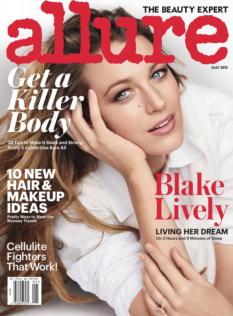 Blake Lively lands the May 2015 cover of Allure Magazine. Photo: Mario Tesitno