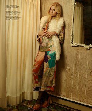 Bridget Malcolm Brings a Seventies Flair to Harper's Bazaar Mexico