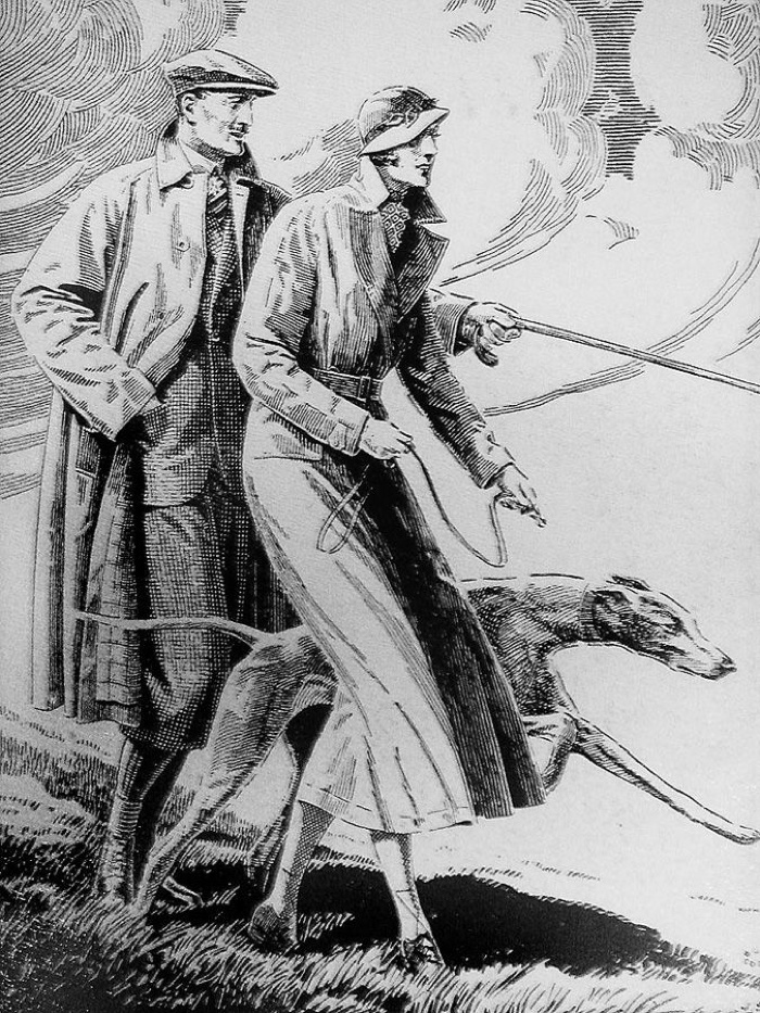 Burberry trench coat ad campaign (circa 1950)