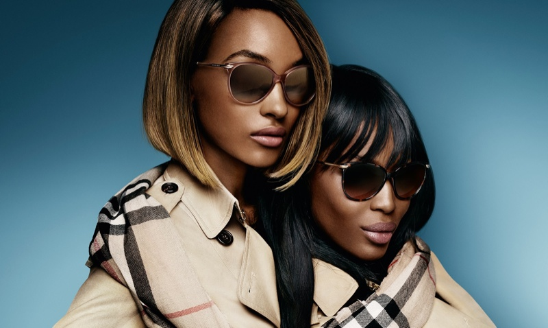 Jourdan and Naomi look cool in their Burberry shades.