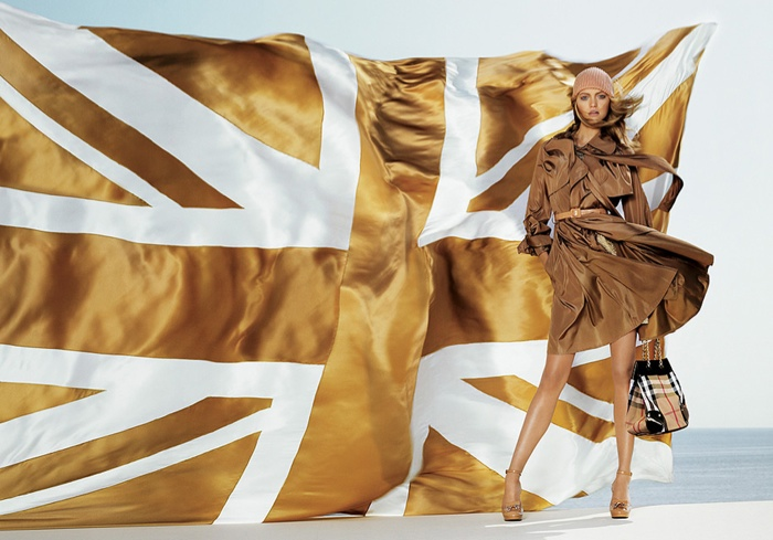 Gemma Ward stars in Burberry spring-summer 2015 campaign wearing a trench coat dress