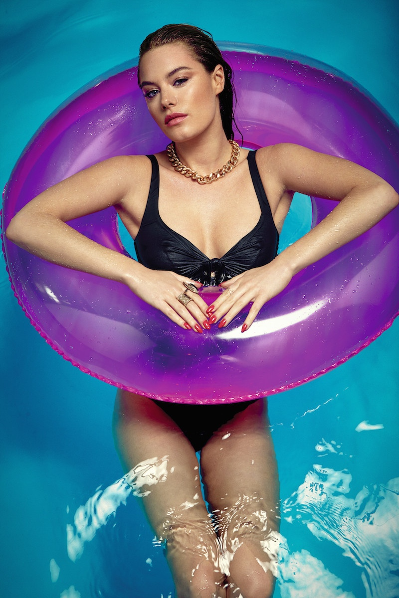 Camille Rowe Models Pool Style for S Moda