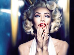 Candice Swanepoel Stuns as Marilyn Monroe in Beauty Ad