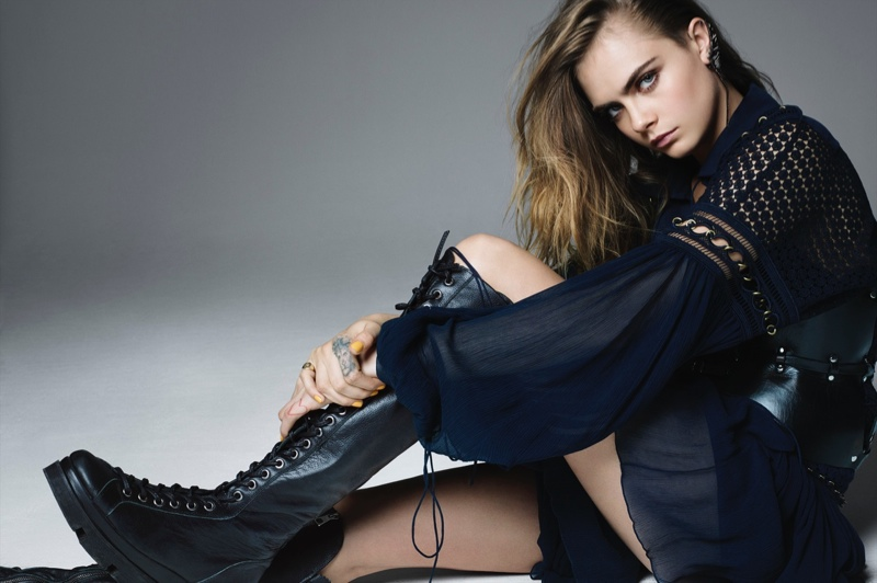 Cara Delevingne Brings Some Rock & Roll Attitude to L'Express Shoot