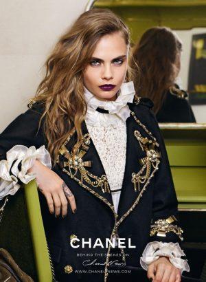Cara Delevingne Goes Dark for Chanel Ad