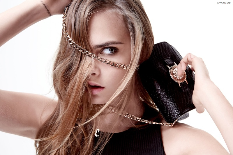 Cara Delevingne is the face of the Topshop x Zalando campaign.