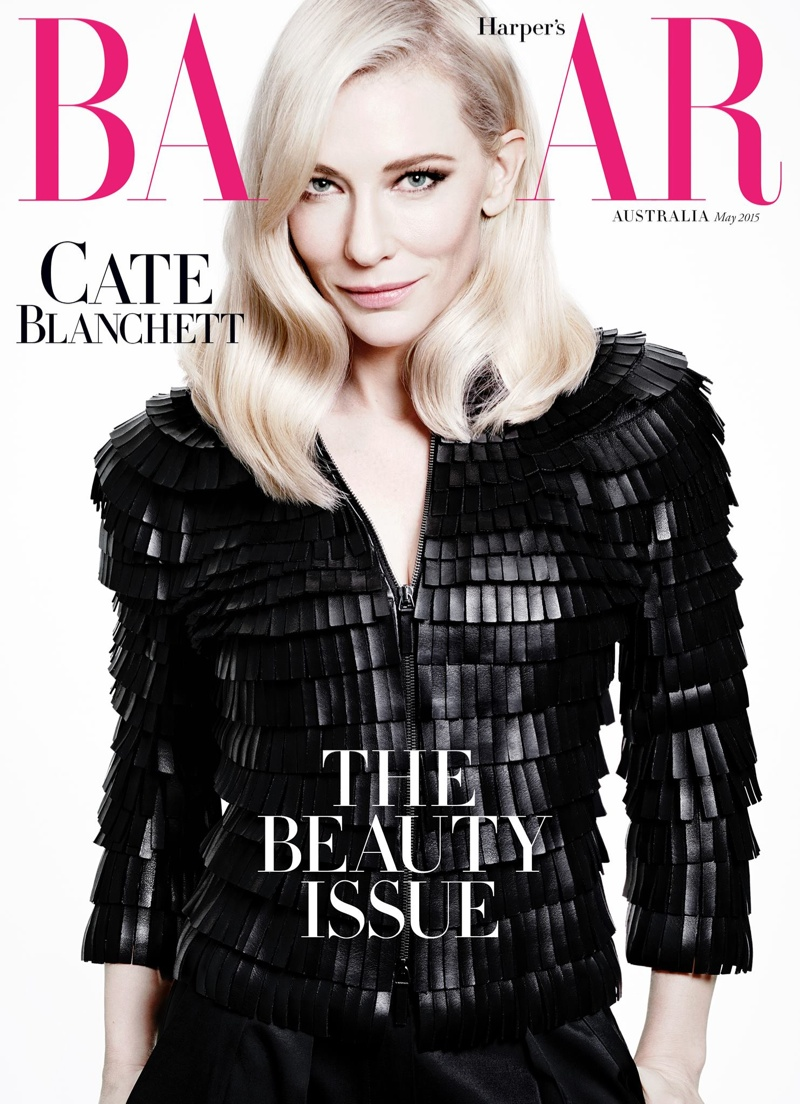 Cate Blanchett graces the May 2015 cover of Harper's Bazaar Australia