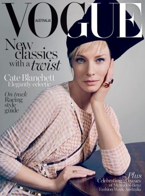 Cate Blanchett Makes a Case for Gingham on Vogue Australia