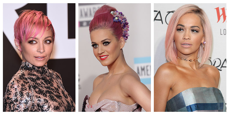 These celebrities have dared to wear pink hair. Photo: Shutterstock.com / PR Photos