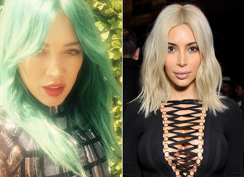 These celebrity hair transformations grabbed headlines in 2015. Photo: Instagram / Givenchy