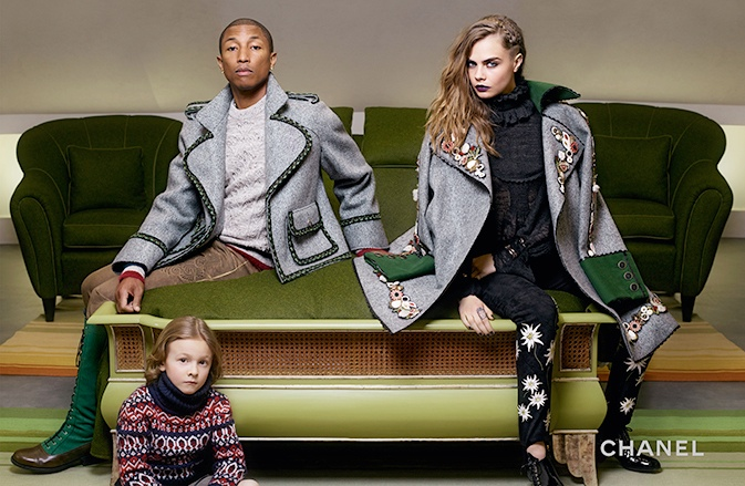 Cara Delevingne and Pharrell Williams reunite for Chanel's Paris-Salzburg campaign