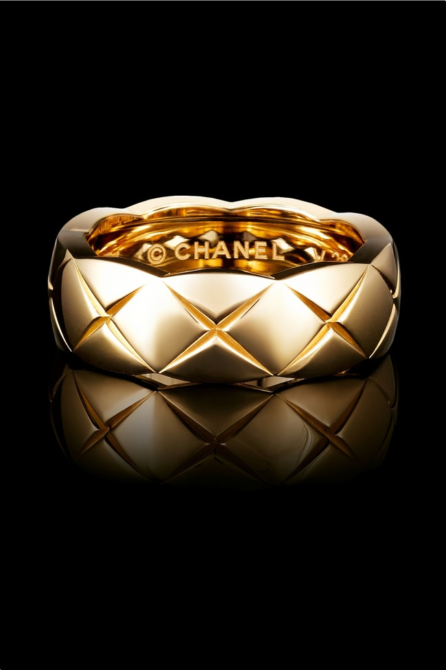 Chanel Fine Jewelry small 18 karat yellow gold ring available for $2,150