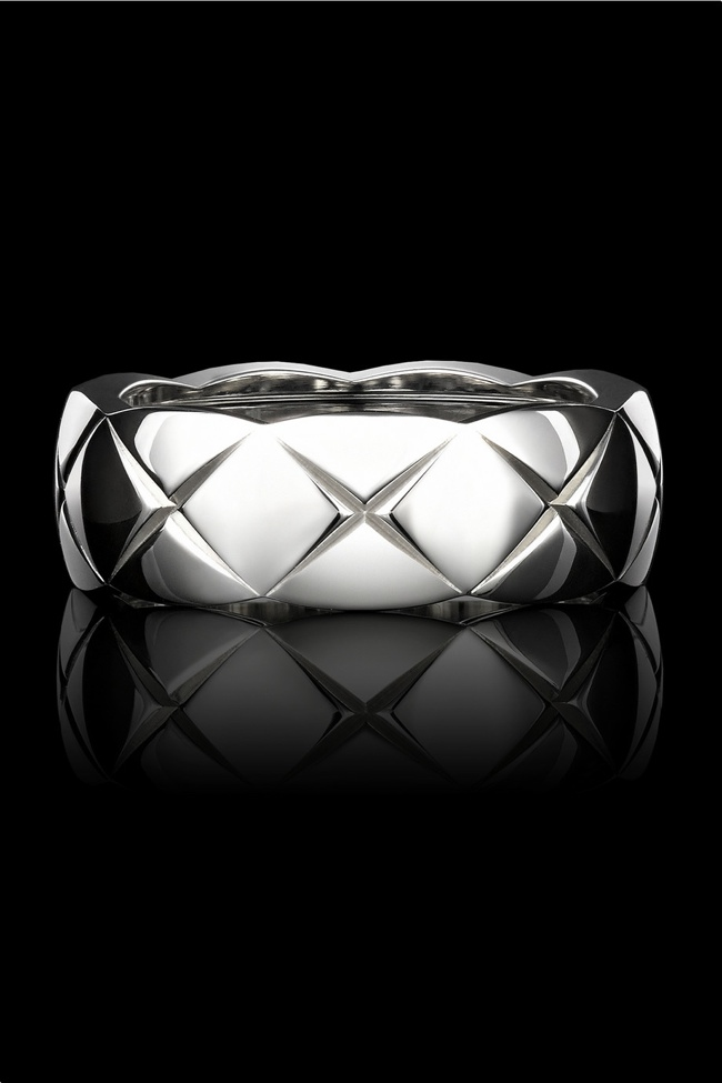 Chanel Fine Jewelry small 18 karat white gold ring available for $2,150