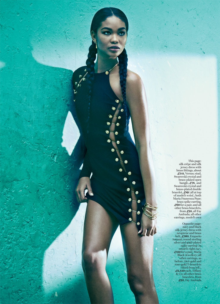 Chanel Iman Gets Sporty Glam in Marie Claire UK