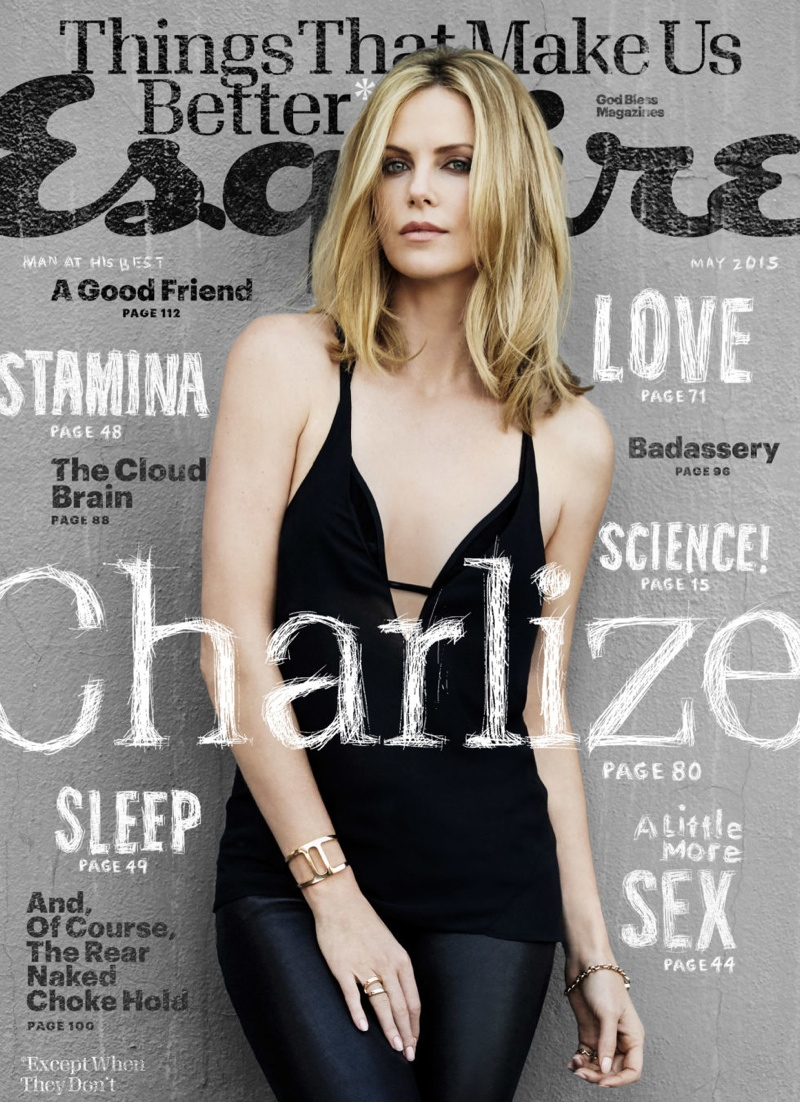 Charlize Theron graces the May 2015 cover of Esquire Magazine