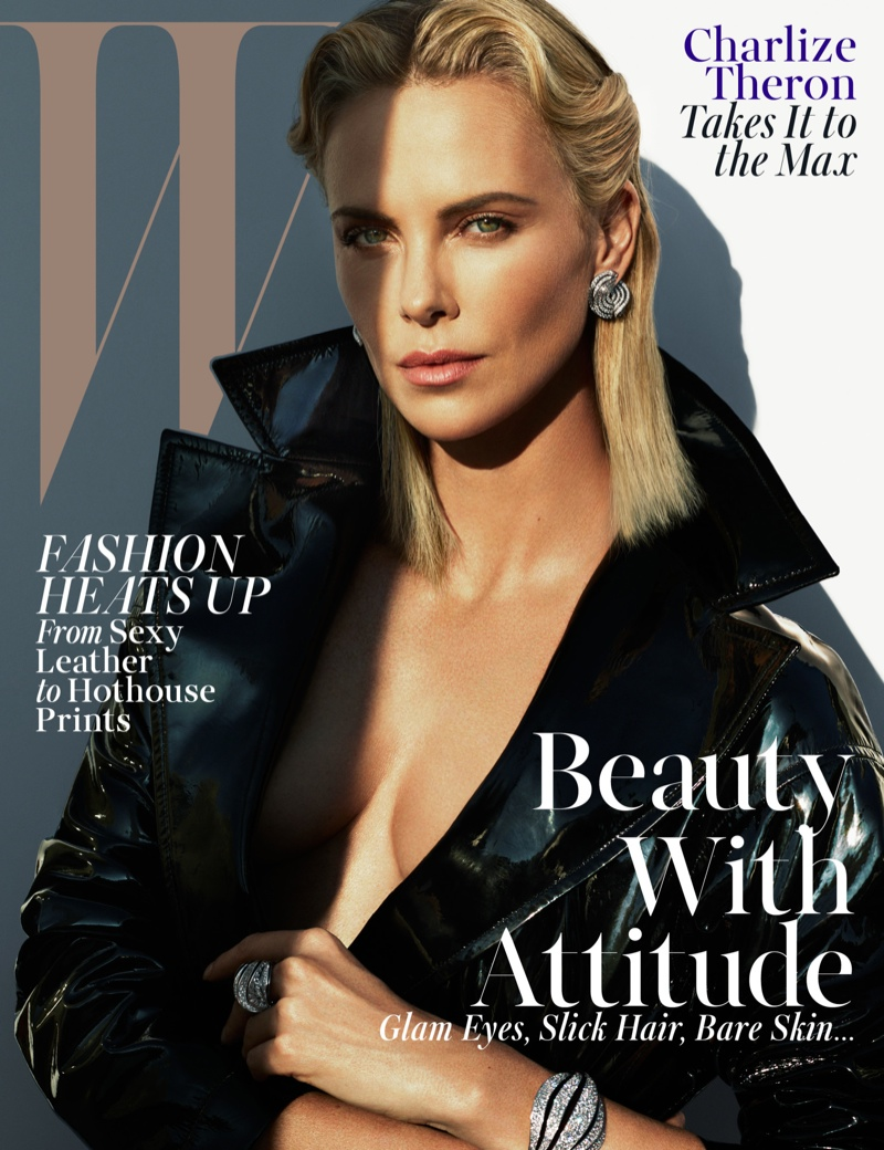 Charlize Theron stars on the May 2015 cover from W Magazine