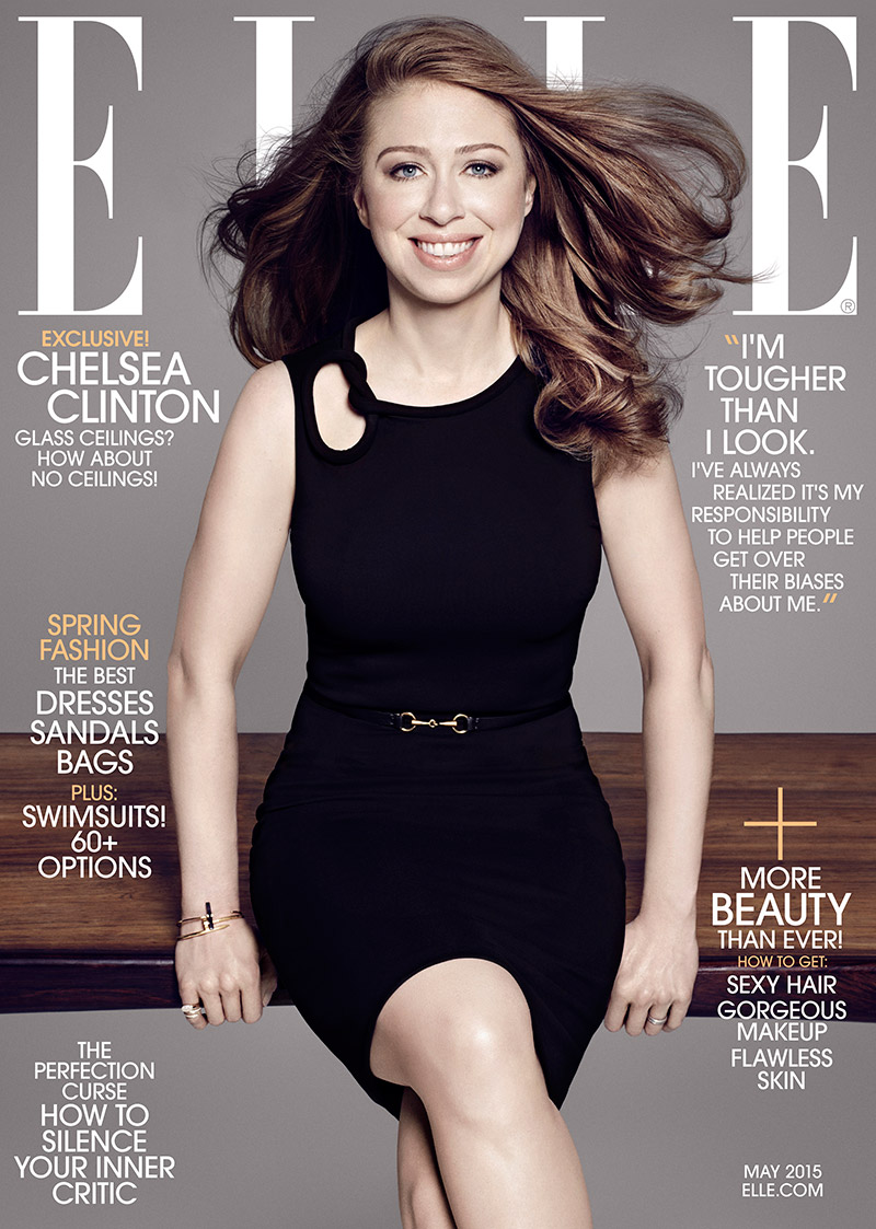 Chelsea Clinton stars on the May 2015 cover of ELLE US photographed by Paola Kudacki.