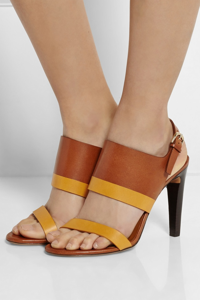 Chloé Two-tone leather sandals available for $695