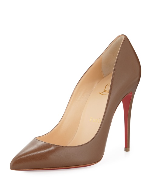Christian Louboutin Pigalle Follies Low-Cut Point-Toe Red Sole Pump, Blush #4 available for $675.00