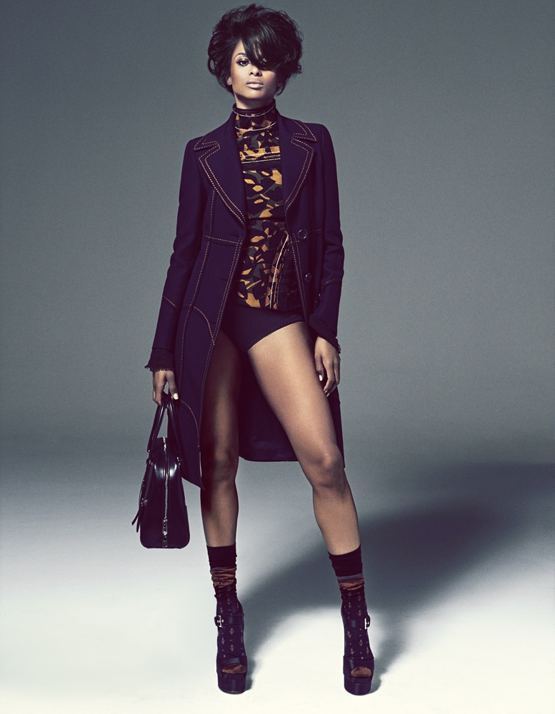 Ciara stars in a sleek fashion shoot for the magazine photographed by Francesco Carrozzini