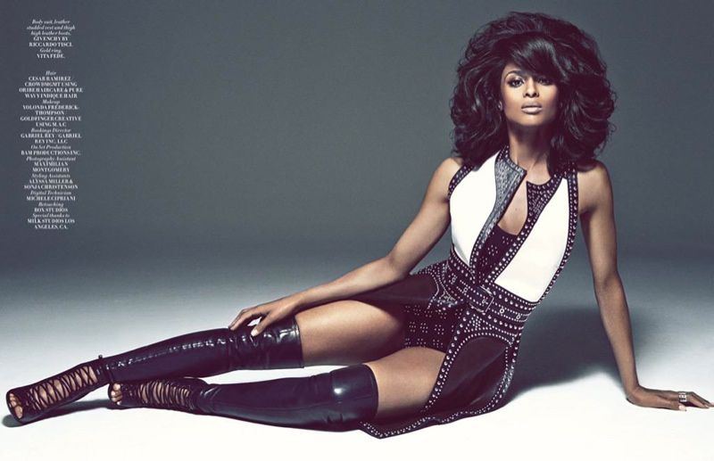 Ciara wears a Givenchy look in this shot