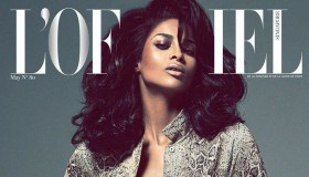 Ciara graces the May 2015 cover of L'Officiel Singapore wearing Armani