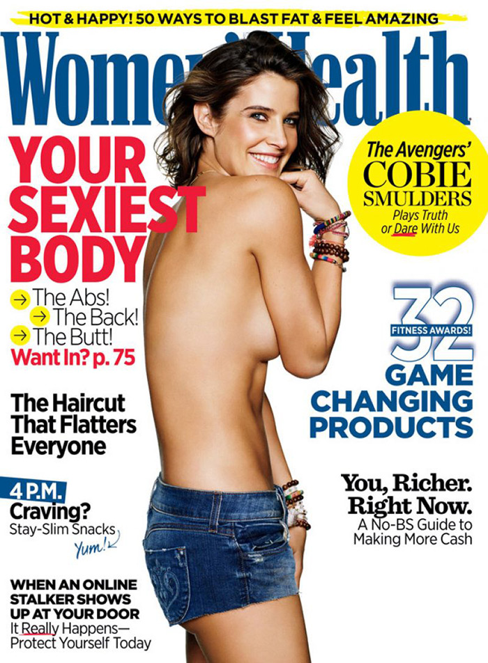 'Avengers' Star Cobie Smulders Goes Topless for Women's Health Cover