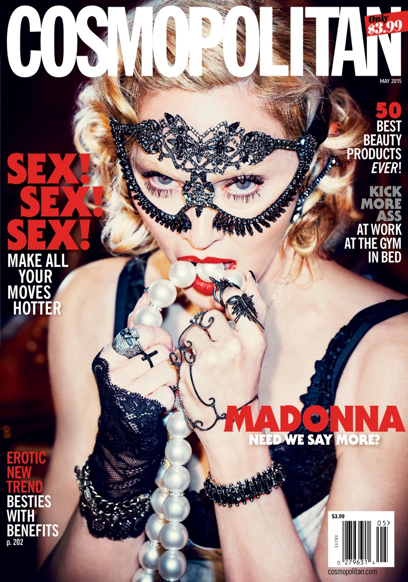 Madonna graces the 50th anniversary issue of Cosmopolitan for May 2015. Photo: Ellen Von Unwerth