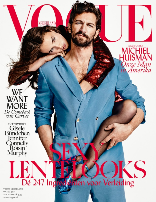 Crista Cober & Michiel Huisman land the May 2015 cover of Vogue Netherlands.