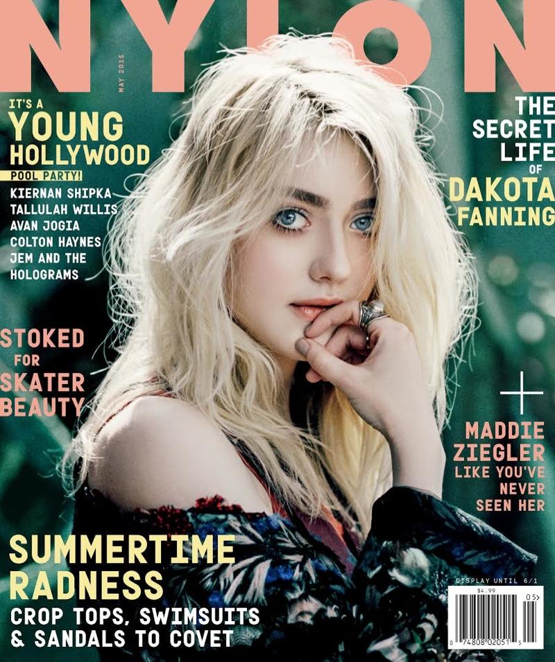 Dakota Fanning graces the May 2015 cover of NYLON Magazine