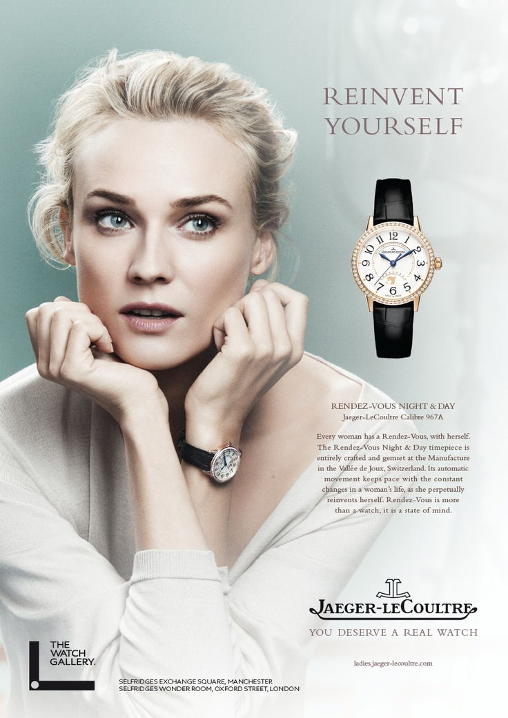 Diane Kruger fronts Jaeger-LeCoultre spring/summer 2015 Watch campaign.