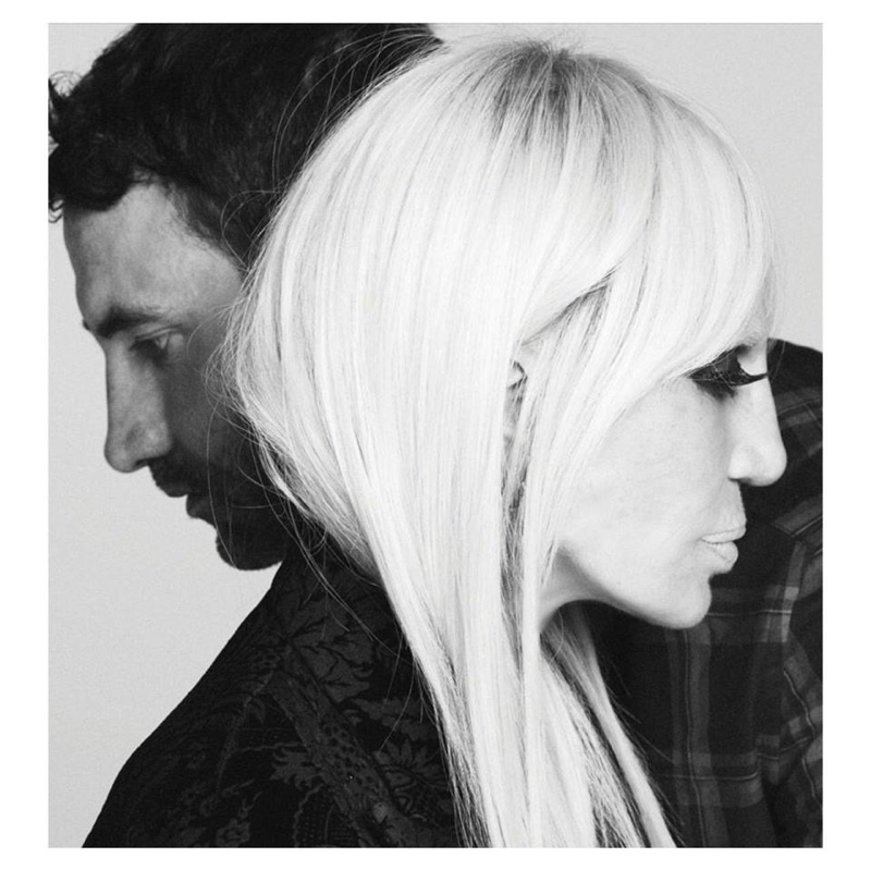 Riccardo Tisci and Donatella Versace pose in Givenchy Fall 2015 Campaign