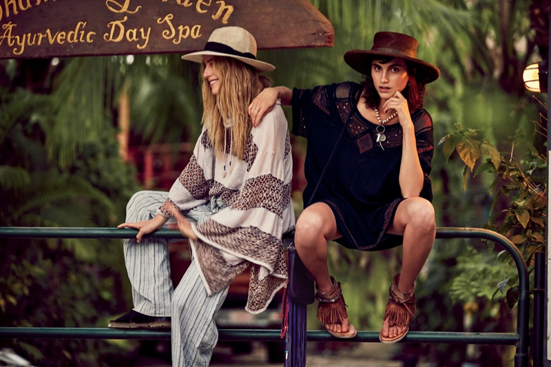 Dree & Langley Fox Hemingway Are Stylish Sisters for Free People